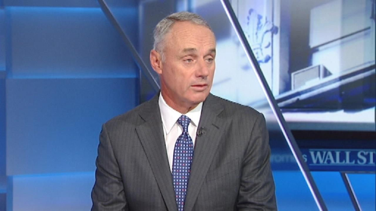 MLB Commissioner Rob Manfred talks about how sports betting has evolved.