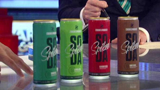 Crook & Marker founder and CEO Ben Weiss introduces spiked sodas.