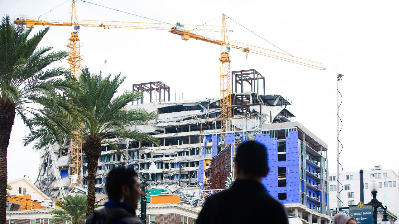 Hard Rock International chairman and Seminole Gaming CEO Jim Allen says they aren't rethinking building there, but if the building has to come down completely, it could delay their project by two years.