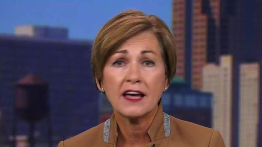 Iowa Gov. Kim Reynolds (R) expresses her concerns in pursuing a progressively left agenda.