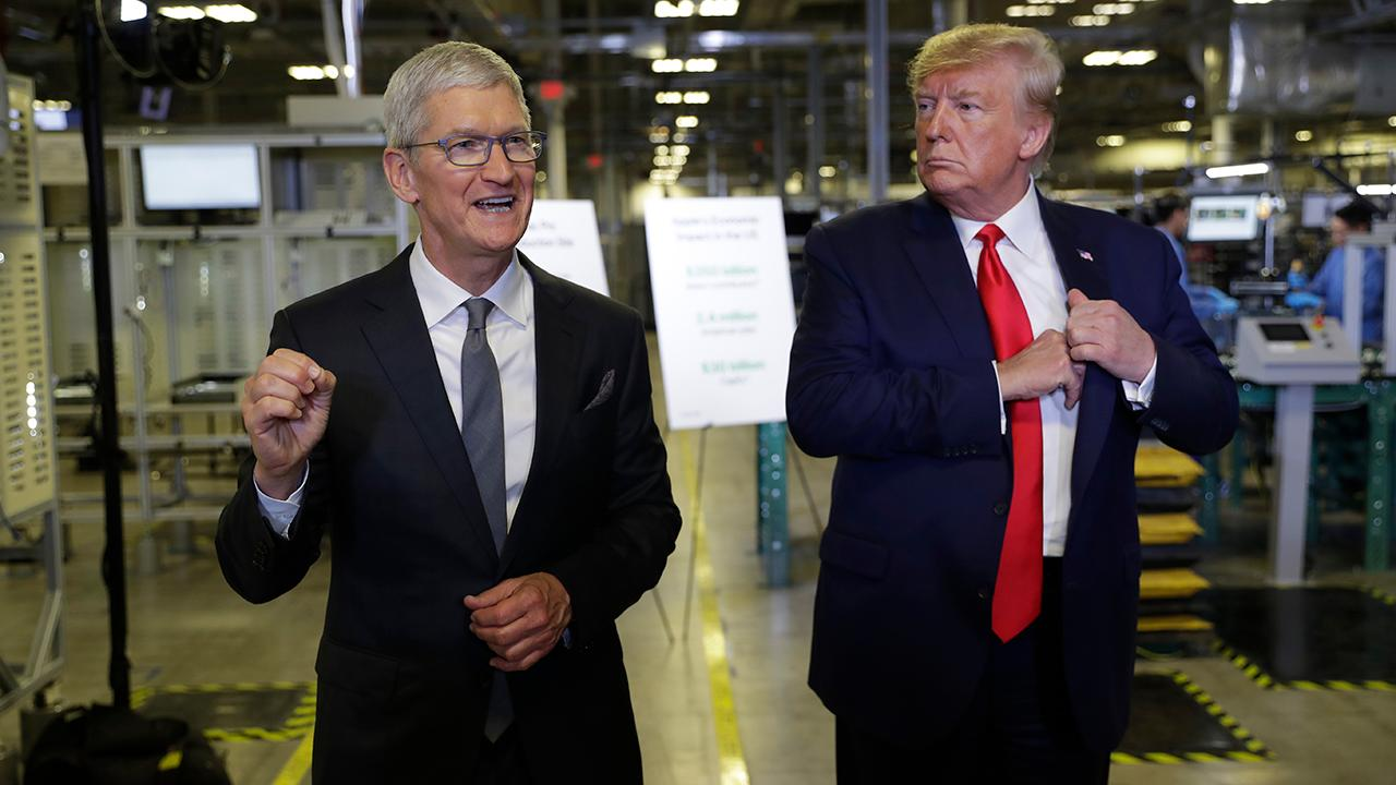 Apple CEO Tim Cook says the new MacBook Pro is 15,000 times more powerful than the original MacBook and touts 'American ingenuity.'