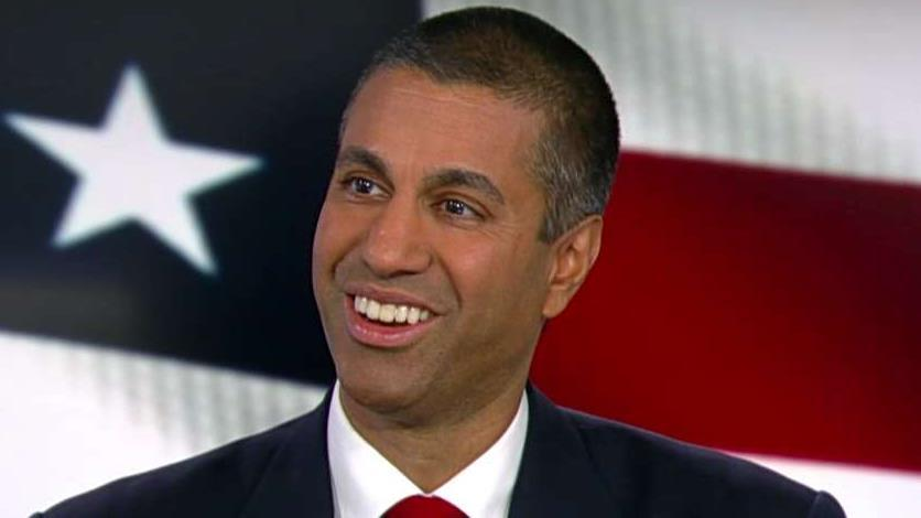 FCC chairman Ajit Pai talks to FOX Business' Lou Dobbs about telecom using taxpayer money to buy from companies that pose security risks to the United States
