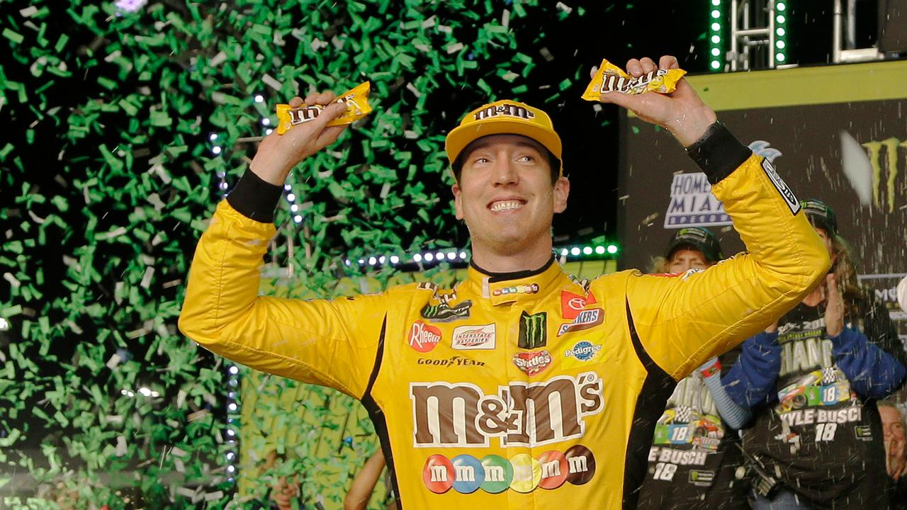 'M&M is paying my bills, for sure,' Kyle Busch joked with FOX Business' Stuart Varney.