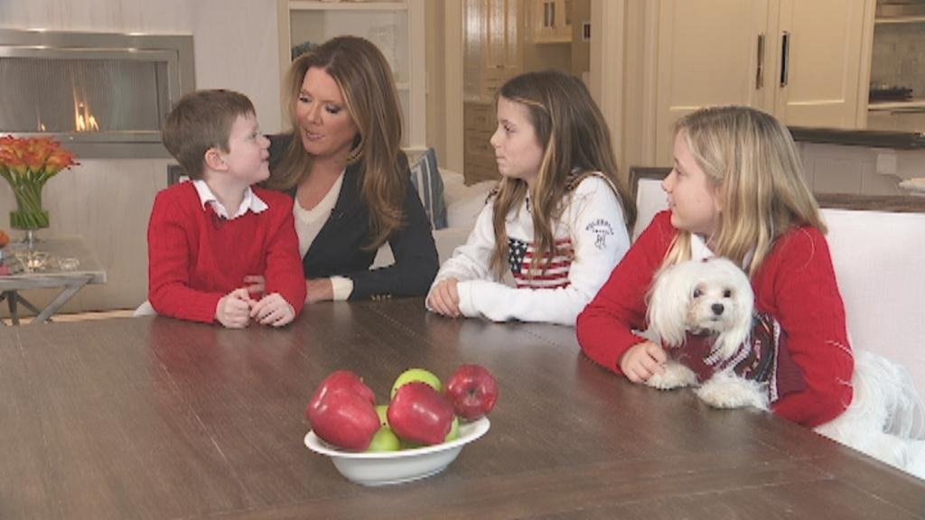 FOX Business' Trish Regan talks with her children about starting a bank account, saving money and what they are thankful for.