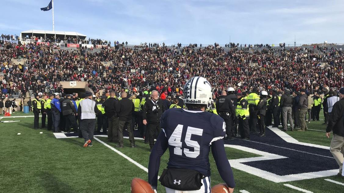 College Football Hall of Fame coach Lou Holtz discusses the interruption of the Harvard-Yale football game by a group of climate protesters and Redskins quarterback Dwayne Haskins missing the final snap of the game to take a selfie.