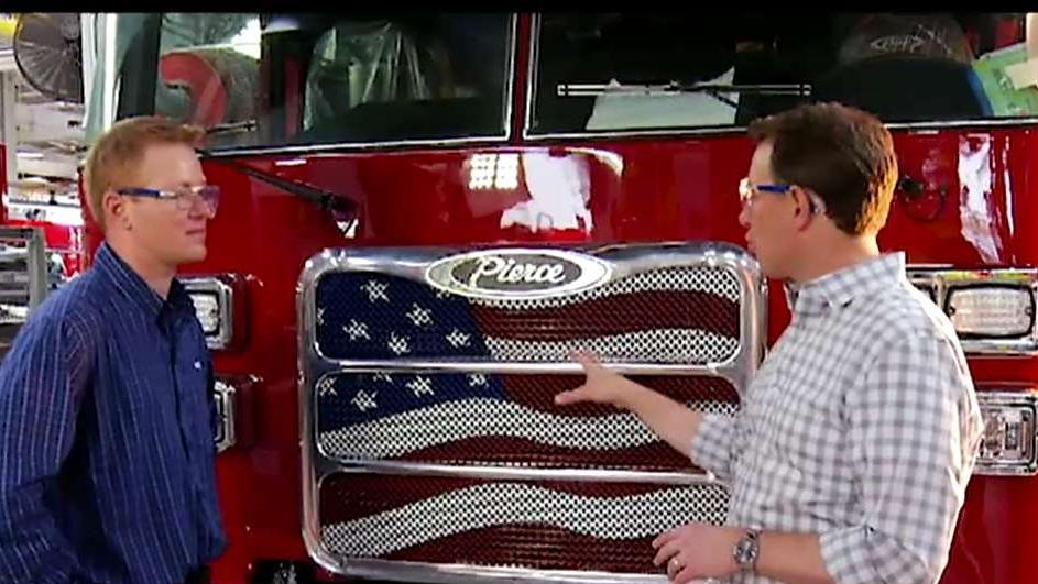 Pierce Manufacturing is proud to manufacture custom-made fire trucks in America for firefighters around the country. Fox News' Todd Piro with more.