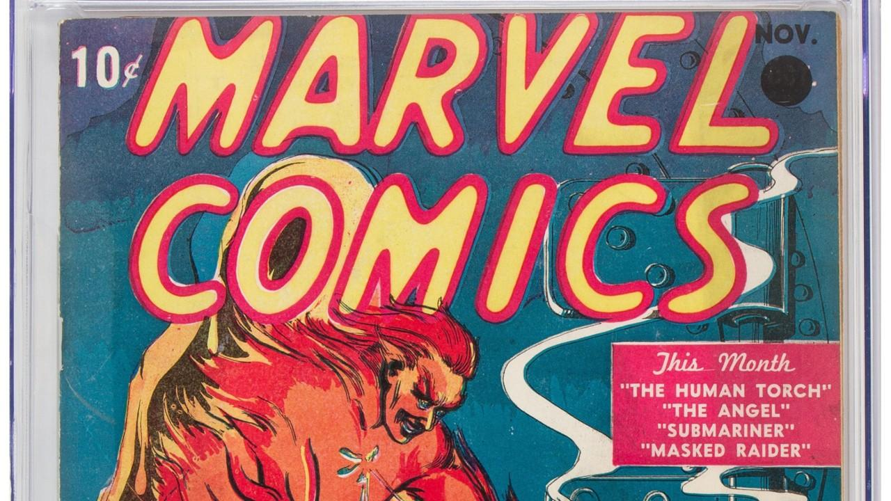 The first comic book ever produced by Marvel sold for $1.26 million at a public auction in Dallas on Thursday.