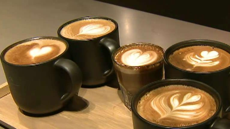 FOX Business' Jeff Flock speaks with Starbucks CEO Kevin Johnson at Chicago's new Starbucks Roastery about in-store products and business methods.