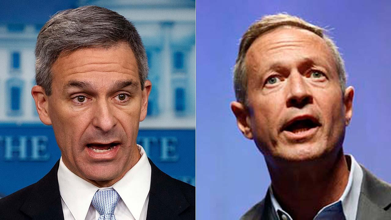 Acting Director of U.S. Citizenship and Immigration Services Ken Cuccinelli breaks down his aggressive interaction with Democratic presidential candidate Martin O'Malley at a D.C. bar.