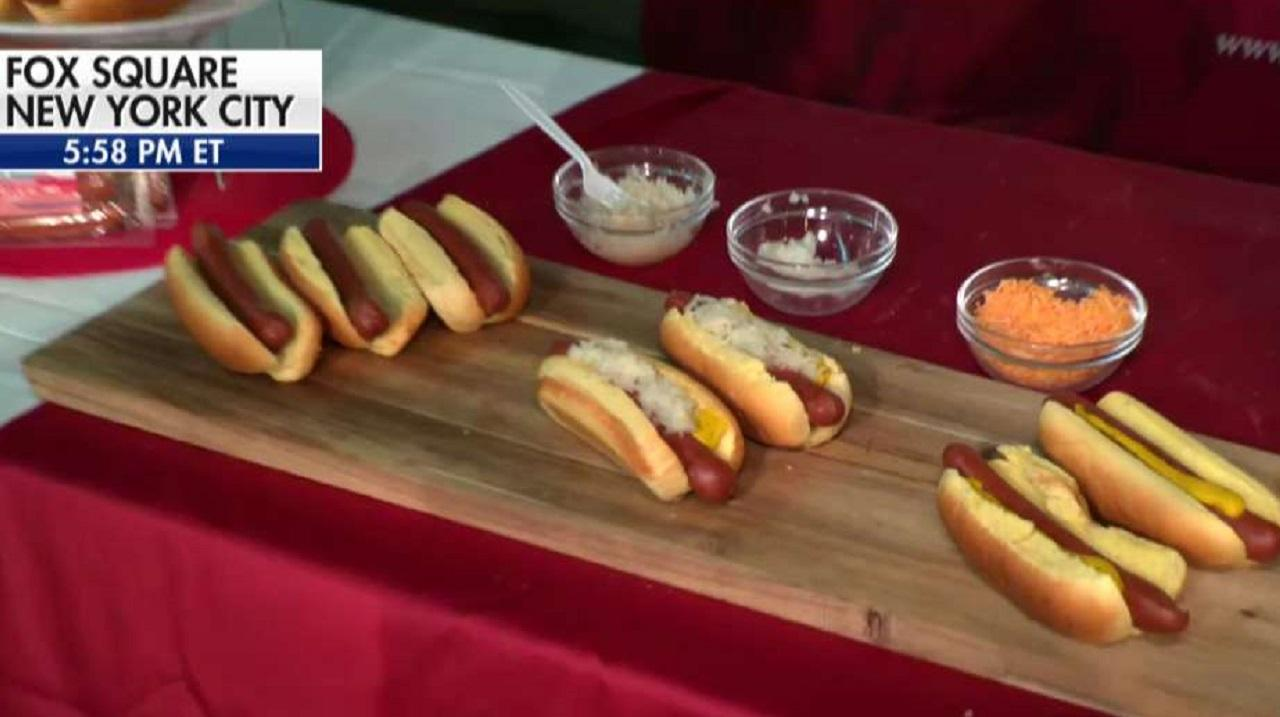 Host of Fox Nation's 'Park'd' Abby Hornacek reports from a Veterans Day business fair in Fox Square and talks with Feltman's of Coney Island about its hot dog business and its work raising money for the Headstrong Project, which helps veterans with mental health issues.