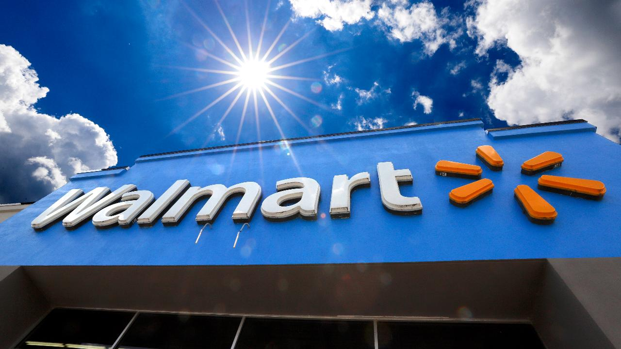 Walmart sales surge with strength of grocery delivery service. Fox Business' Stuart Varney with more.