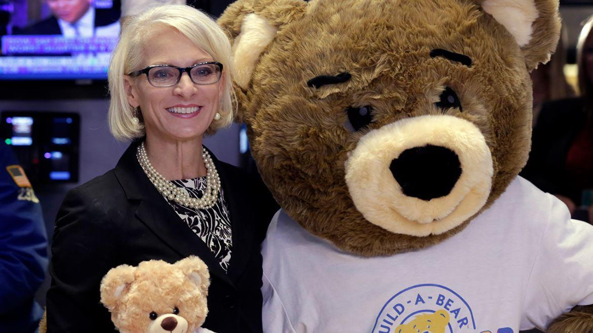 Build-A-Bear Workshop president Sharon Price John discusses her brand's strategy of offering consumers an experience after the company's value dropped 40 percent this past year.