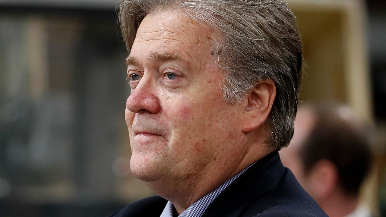Former White House chief strategist Steve Bannon says former Secretary of State Hillary Clinton will enter the 2020 Democratic race as a cry of desperation for the party.
