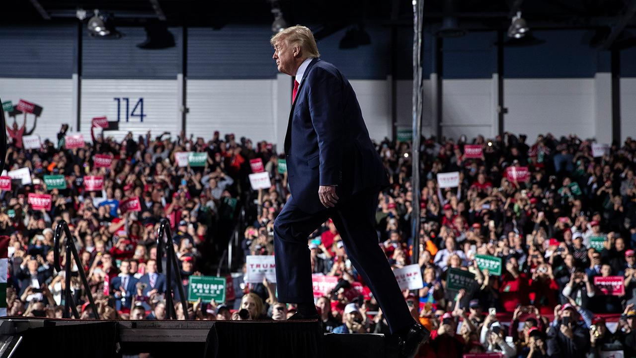 President Trump talks about helping fund historically black colleges and universities (HBCUs) at a 'Keep America Great' rally in Battle Creek, Michigan.