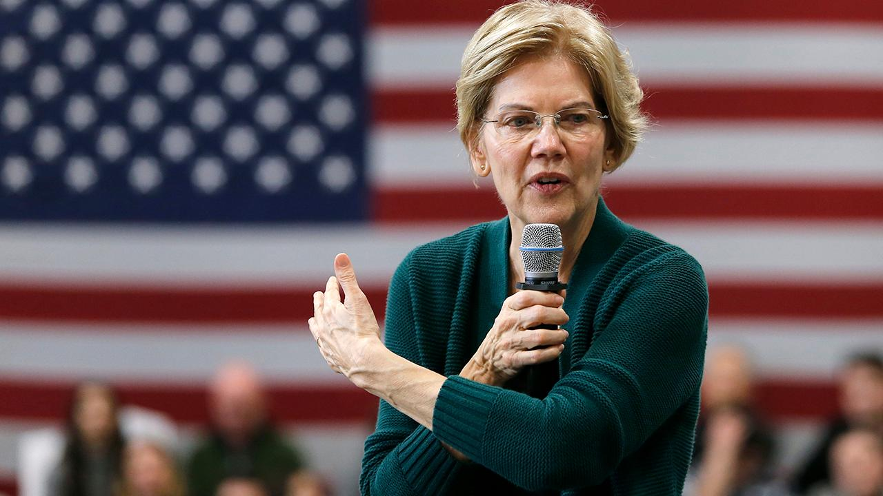 FOX Business' Charlie Gasparino talks about Sen. Elizabeth Warren's plan to break up big tech companies and how Democratic leadership reportedly won't comment on her plan until they see the details.