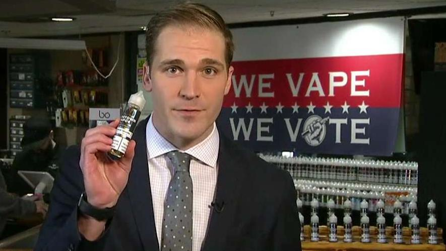 FOX Business' Grady Trimble reports on Michigan vapers hoping flavored e-cigarette bans will be lifted until further research is conducted.