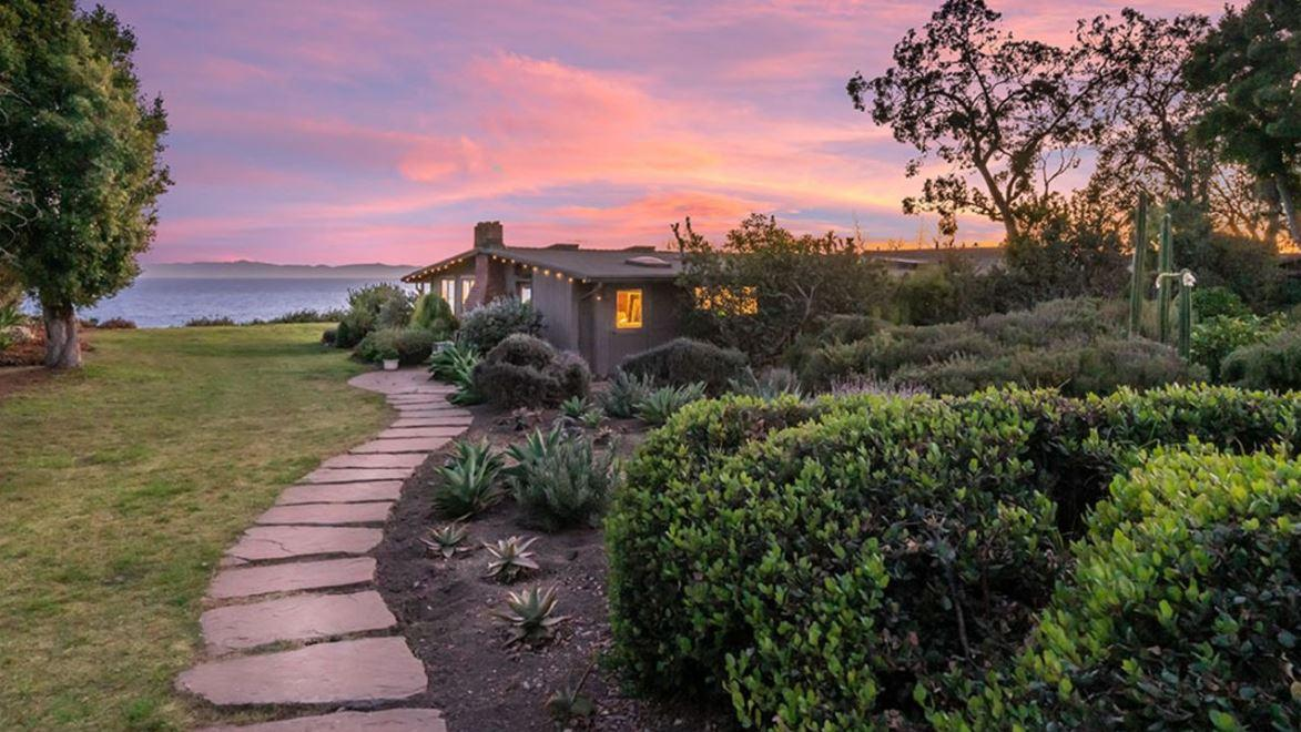 The Santa Barbara, California, 2.5-acre estate formerly owned by Mike Love of the Beach Boys is now on the market.