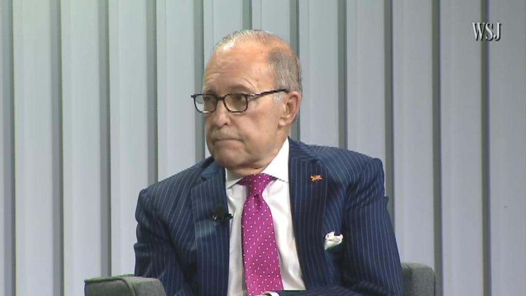 White House economic adviser Larry Kudlow will not be specific what the tax cuts may consist of, but he says they will have a strong emphasis on middle-class tax relief, while speaking on the Wall Street Journal CEO Council.