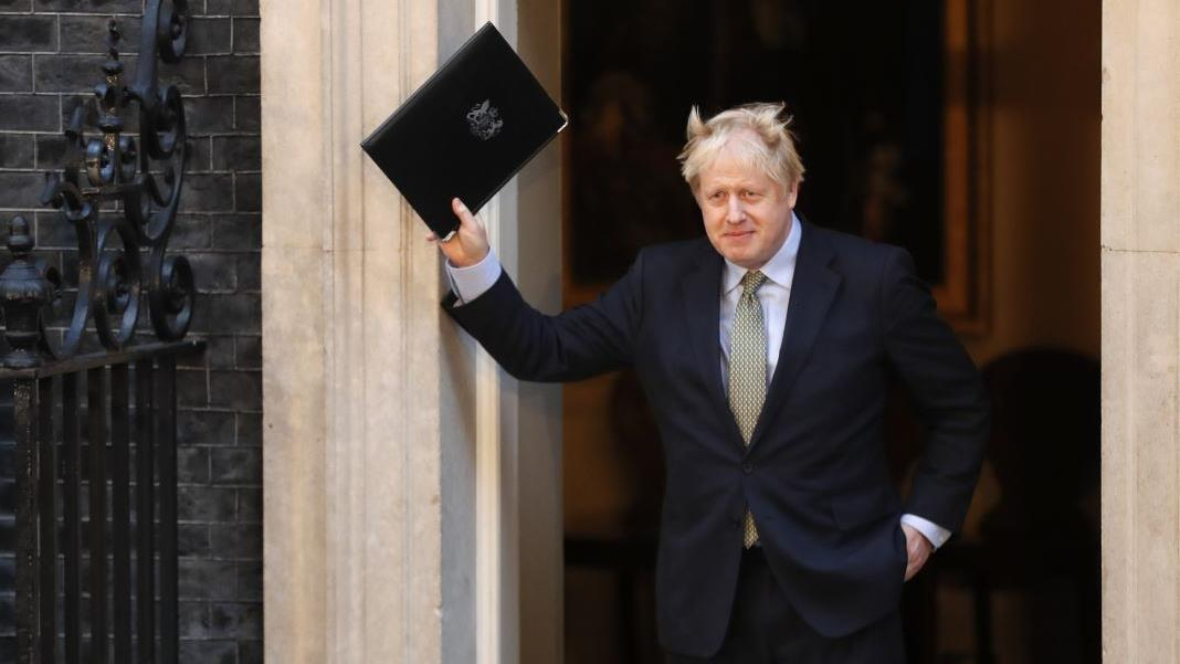 U.K. Prime Minister Boris Johnson addresses the people of Britain following his landslide electoral victory.