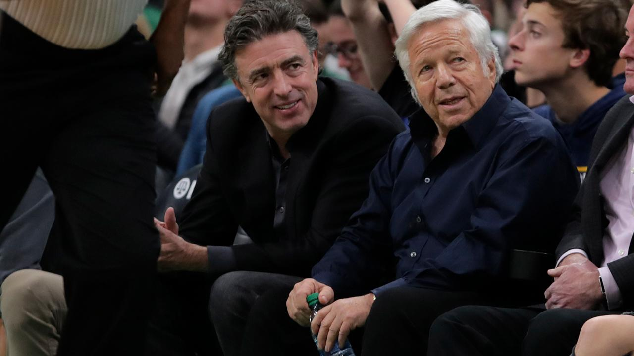 Chairman of the Kraft Group and owner of the New England Patriots Robert Kraft speaks at a White House event as President Trump signs an executive order targeting anti-Semitism.