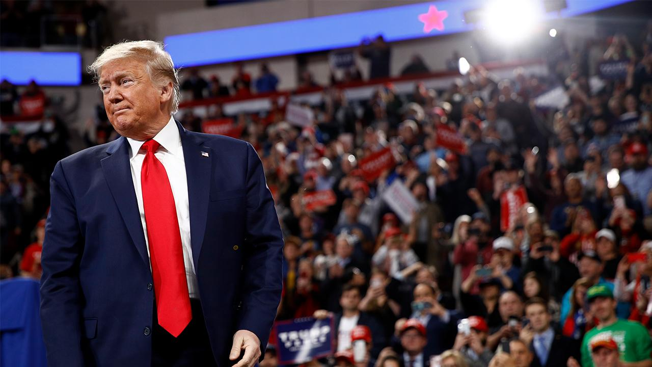 President Trump discusses climate change, China, jobs and the U.S. economy at a 'Keep America Great' rally in Hershey, Pennsylvania.