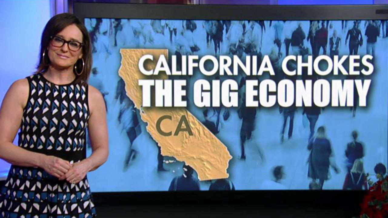 FOX Business' Kennedy discusses a new California bill, AB 5, and calls it 'heartless' because of how it will impact freelancers. Capitalist Pig hedge fund's Jonathan Hoenig also weighs in.