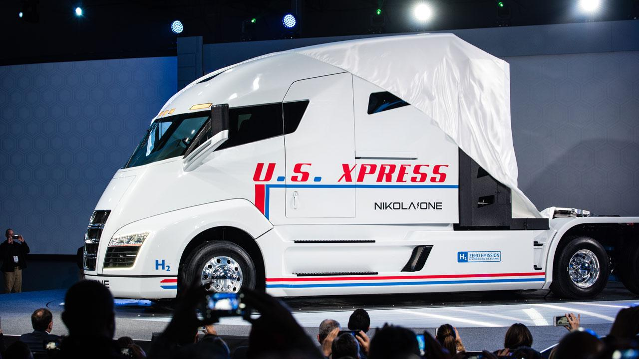 Nikola Motor Company CEO Trevor Milton discusses his company's hydrogen-fueled vehicles and explains why its trucks could generate up to $50,000 a month more in revenue for a customer than a battery-charged truck.