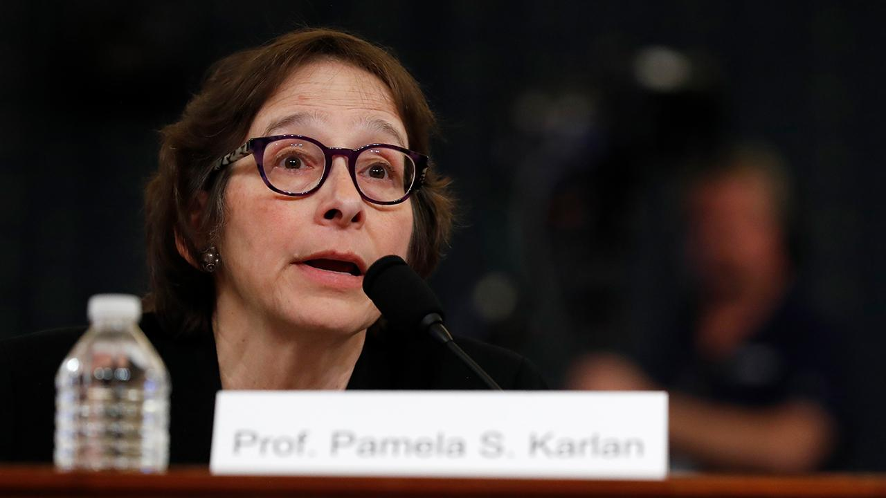Stanford University professor Pamela Karlan, one of the Democrat's academic witnesses, apologized for a comment she made about Barron Trump during Wednesday's impeachment hearing.