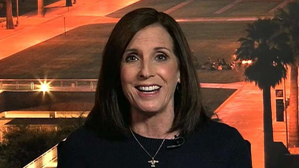 Sen. Martha McSally, R-Ariz., discusses President Trump's immigration policy that requires asylum seekers to wait for their court hearings in Mexico instead of settling in the U.S.
