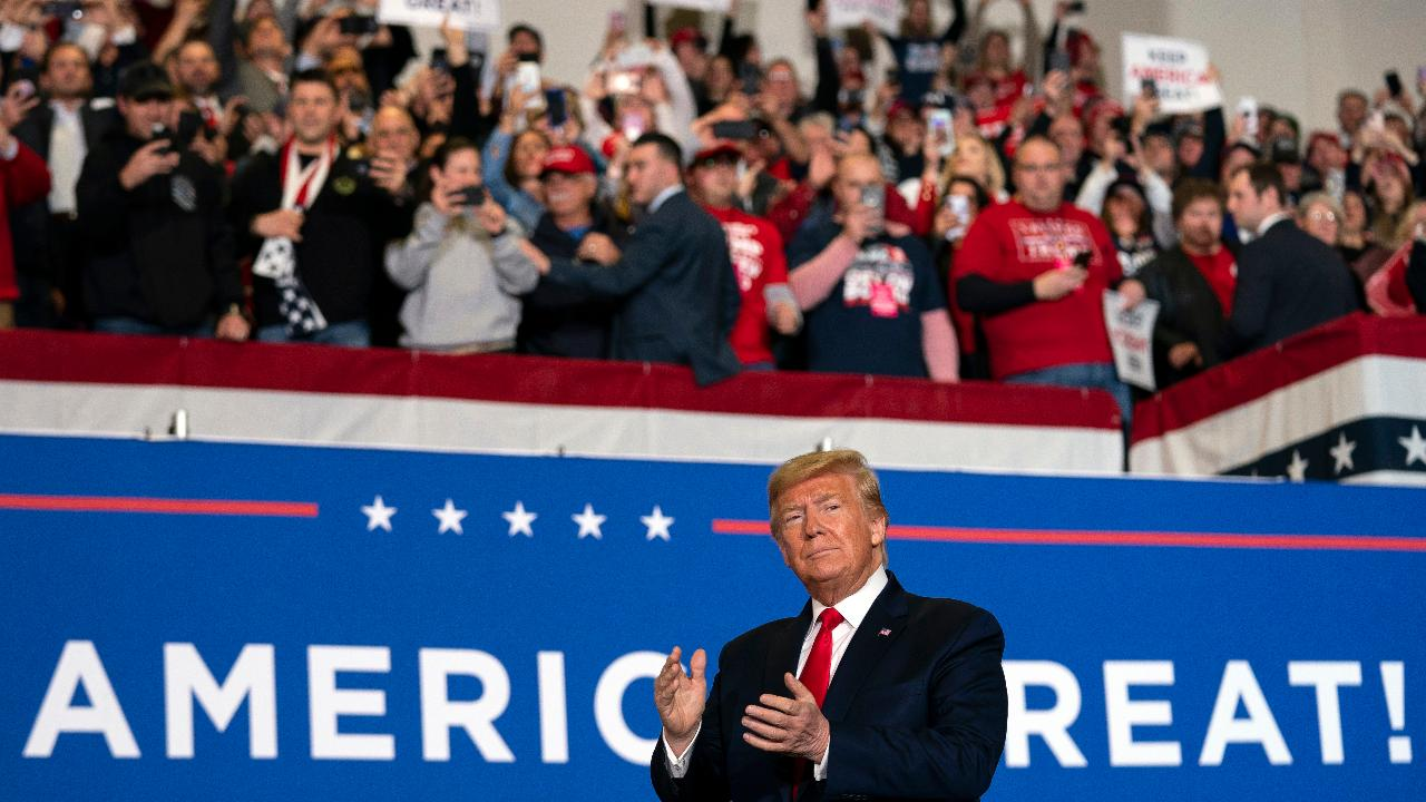 President Trump says the wall is an advantage for Mexico and the U.S. while speaking to supporters at a 'Keep America Great' rally in Wildwood, New Jersey.