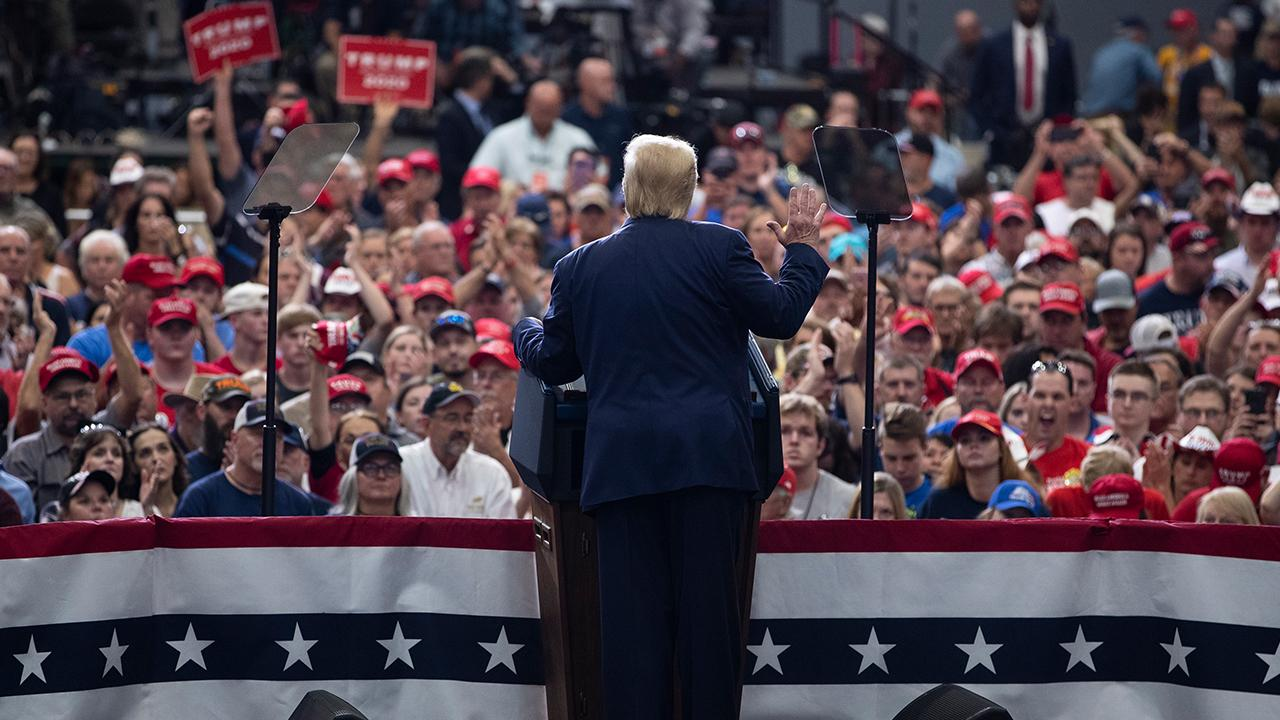 President Trump discusses the USMCA and trade deals with China and Japan while speaking to supporters at a 'Keep America Great' rally in Milwaukee, Wisconsin.