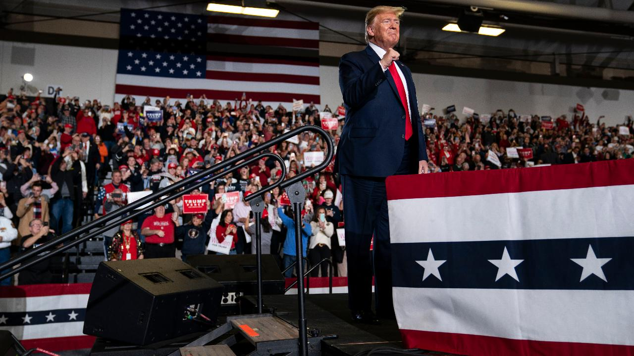 President Trump discusses employment, blue-collar workers, taxes, American energy and opportunity zones while speaking to supporters at a 'Keep America Great' rally in Wildwood, New Jersey.