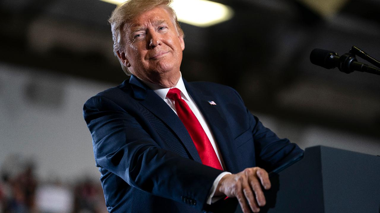 President Trump says the market and people's 401ks will plummet if the Democrats win the 2020 presidential election while speaking to supporters at a 'Keep America Great' rally in Wildwood, New Jersey.