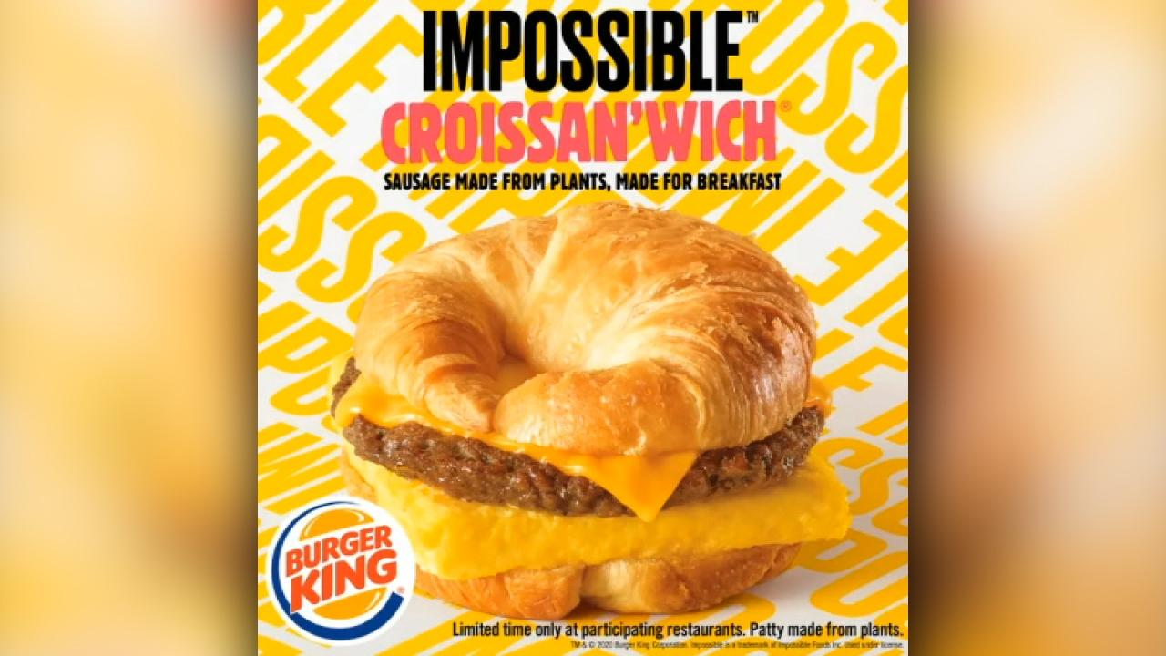 Morning Business Outlook: Burger King ready to add the Impossible Croissan'wich to its breakfast menu in selected locations; Pier 1 Imports says they will close 450 stores as it restructures its business.