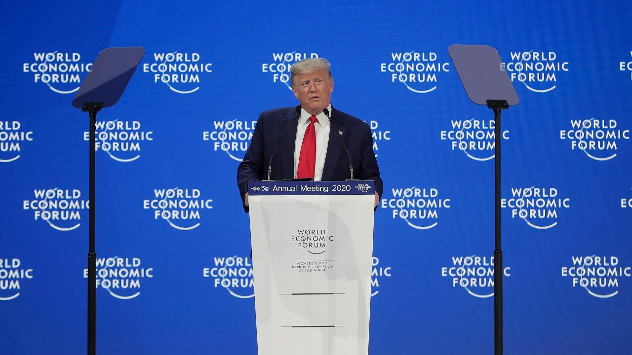 President Trump addresses the World Economic Forum in Davos, discussing America's booming economy, international trade and clean energy.