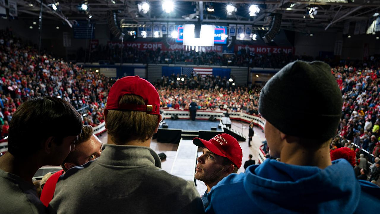 President Trump speaks about U.S. trade victories and future deals while speaking at a 'Keep America Great' rally in Des Moines, Iowa.