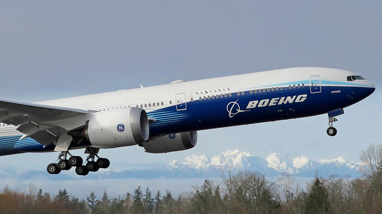 Fox Business Briefs: Boeing's 777x, the world's largest twin-engine jet, takes off for its first flight from Everett, Washington; Vermont considers a bill that would all drivers to choose emojis for their vanity license plates.