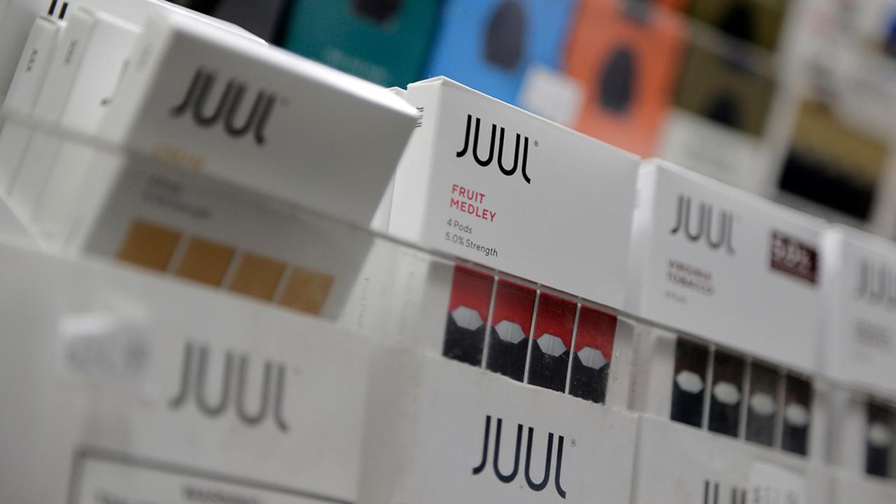 Fox Business Briefs: Juul is stopping the sale of fruit-flavored pods in Canada saying the move is part of the company's ongoing review of its practices; Delta takes top spot for the third year in a row while American came in last in Middle Seat's ranking of best and worst airlines.