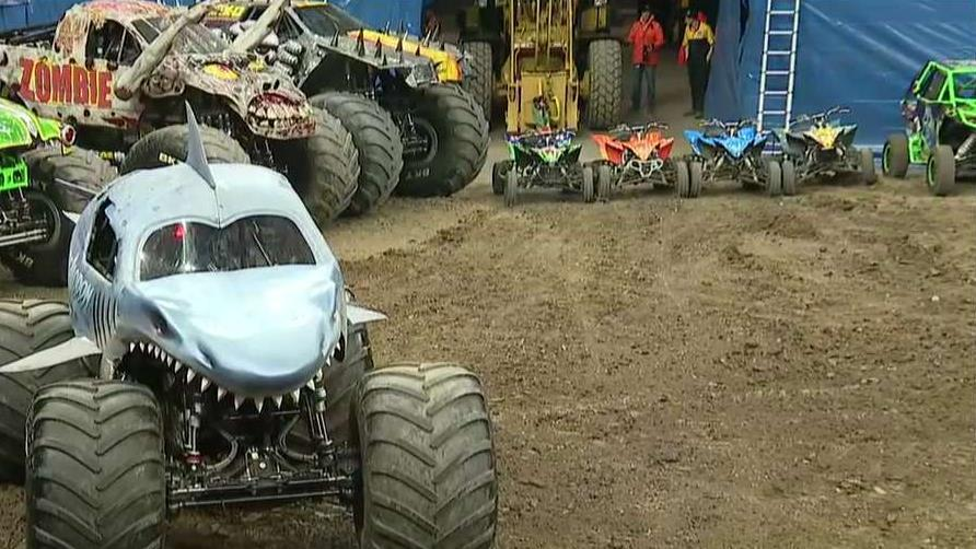 """Max-D"" driver Colton Eichelberger is with FOX Business' Kristina Partsinevelos at the Monster Jam discussing his preparation for the monster truck show in which he is competing."