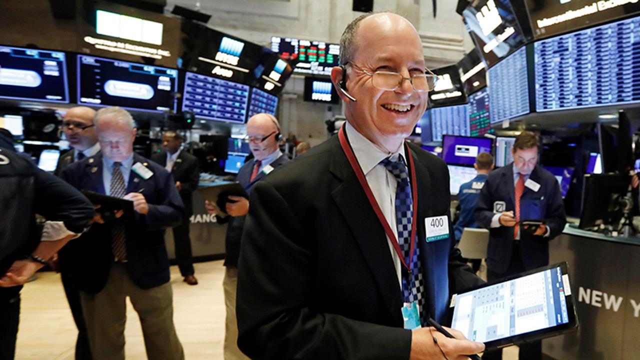 FOX Business' Gerri Willis says Cisco, Home Depot, Microsoft and Caterpillar were Thursday's stock market winners on the floor of the New York Stock Exchange.