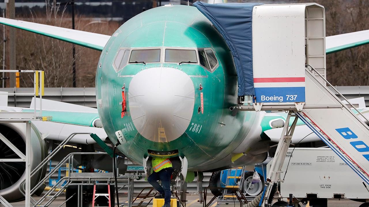 Fox Business Briefs: Boeing's new CEO David Calhoun says production of the 737 Max will resume in spring and dismisses the idea the troubled jet will never fly again; Burger King adds the Impossible Whopper to the chain's two-for-$6 discount menu after sales of the burger went down.
