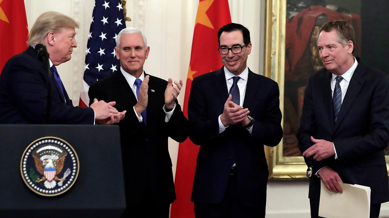 Vice President Mike Pence says President Trump's firm stance on China made 'phase one' of the U.S.-China trade deal possible.
