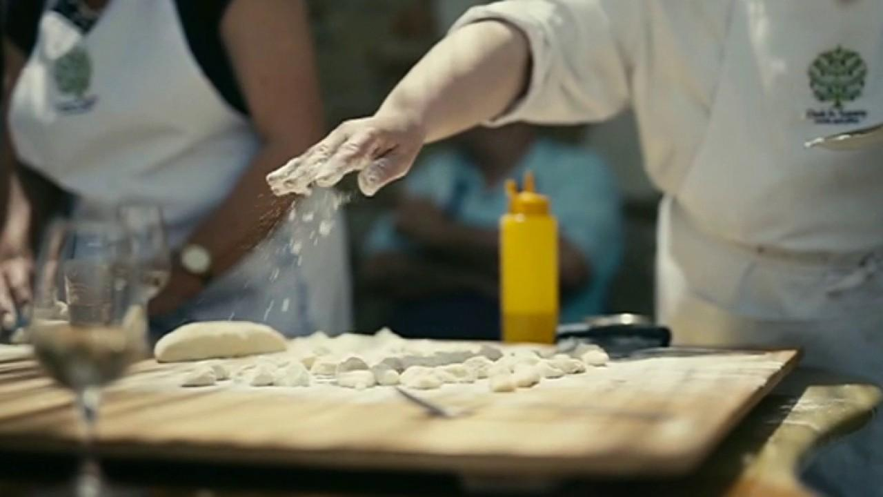 Cook in Tuscany co-founders George and Linda Meyers discuss their tours in Tuscany, which include cooking authentic Italian food and wine tasting.