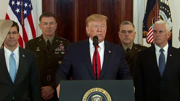 President Trump addresses the nation regarding the threat of Iranian violence and terrorism in response to a missile attack on U.S. bases in Iraq.