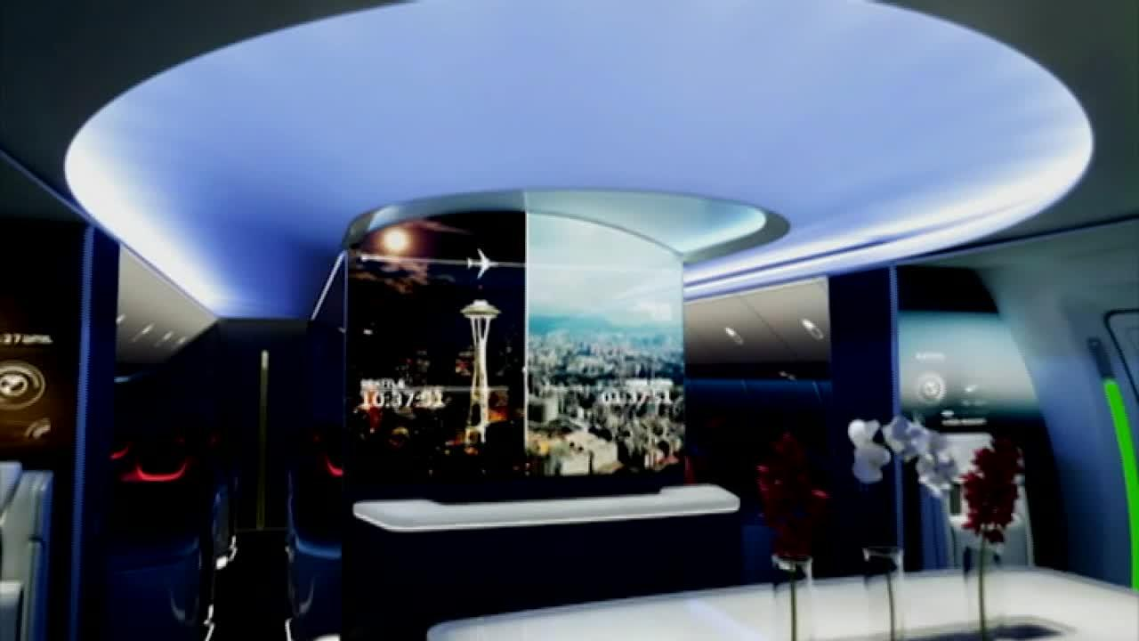 Boeing's new Boeing 777X boasts larger windows and better temperature control.