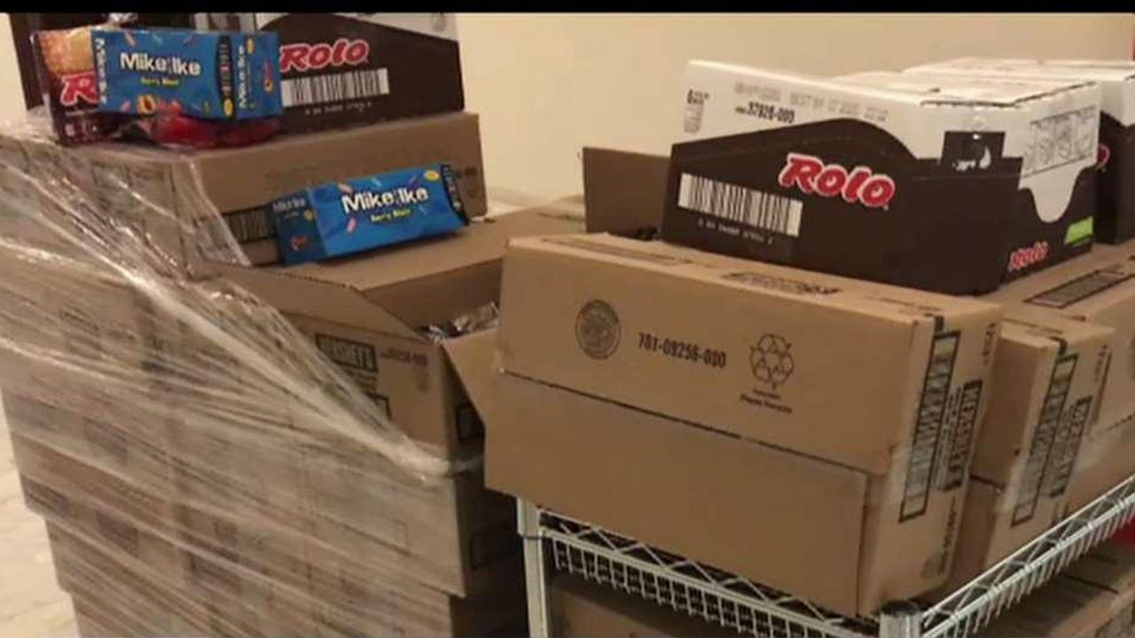 Hershey's delivered 700 pounds of candy to Sen. Pat Toomey's office to use in restocking the Senate's candy desk during the impeachment trial.