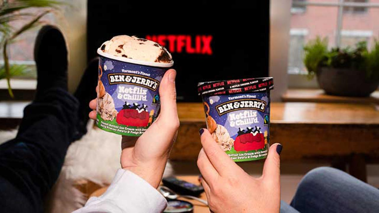 FOX Business' Cheryl Casone with more on Ben & Jerry's teaming up with Netflix to create a new ice cream flavor.