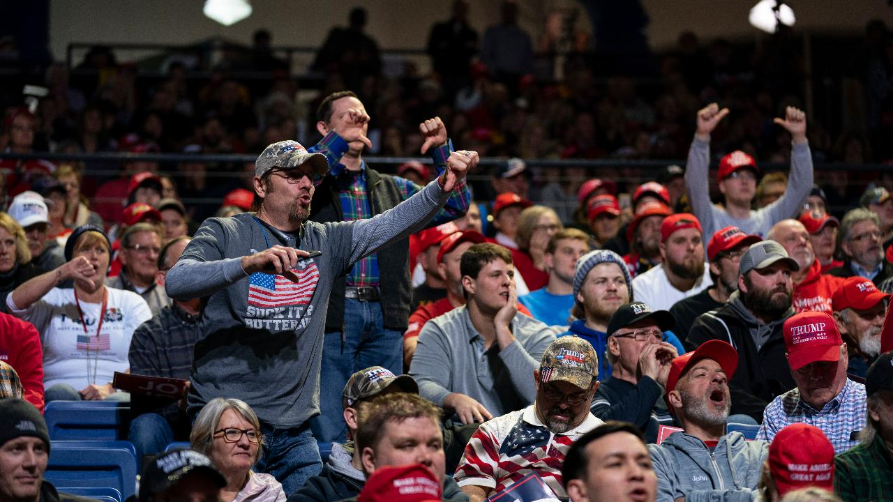 President Trump tells people he's putting America first for farmers while speaking during a 'Keep America Great' rally in Des Moines, Iowa.