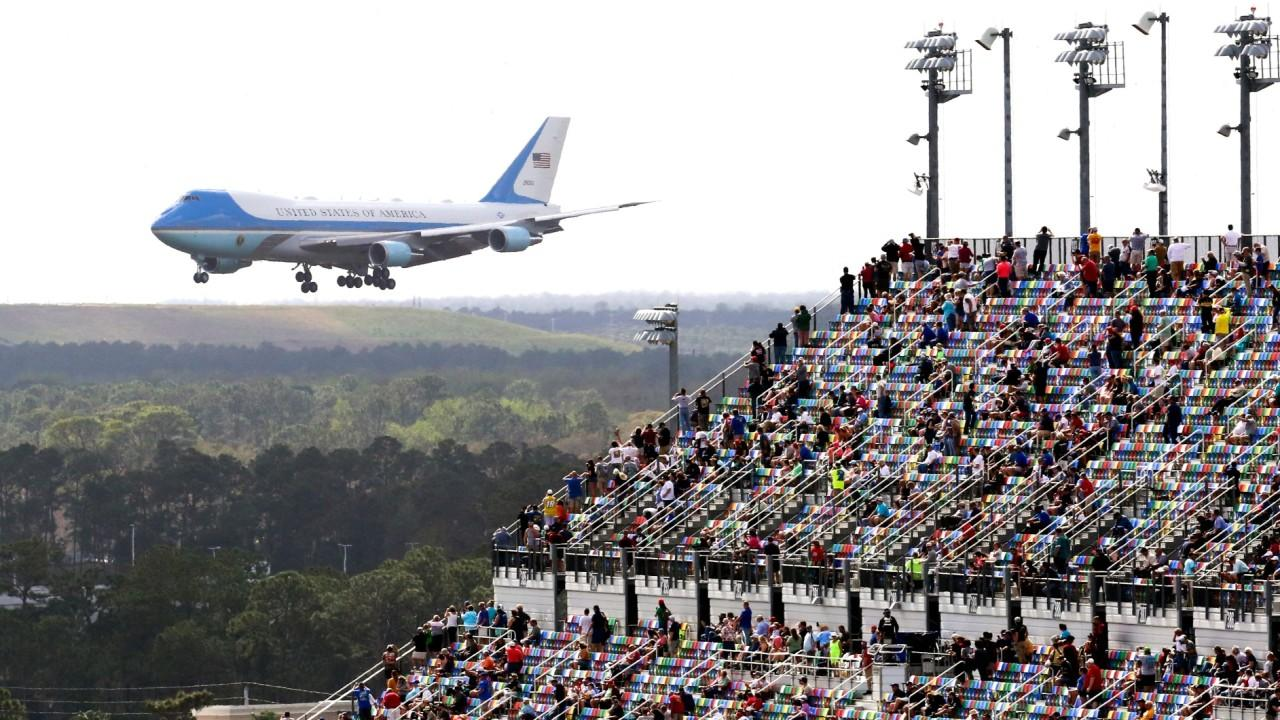 Fox News chief meteorologist Rick Reichmuth says the Daytona 500 is set to restart after its initial rain delay. President Trump started the race on Sunday, flew Air Force One over the race track and drove the presidential limousine around the track.