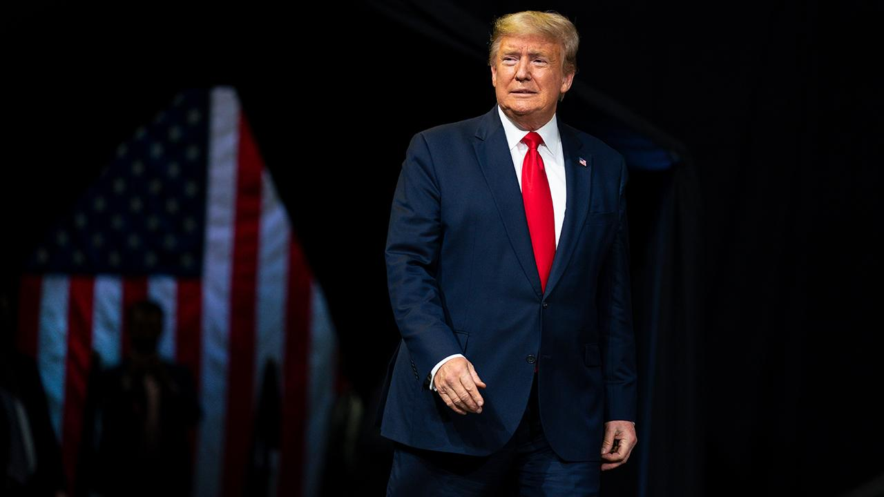 President Trump touts economic and employment successes while addressing supporters at a 'Keep America Great' rally in Phoenix, Arizona.